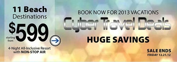 last minute travel deals : cyber sale